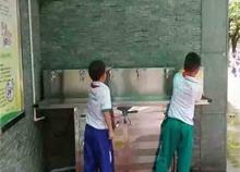 我们一直在用圣蓝校园直饮水设备---皇岗中学