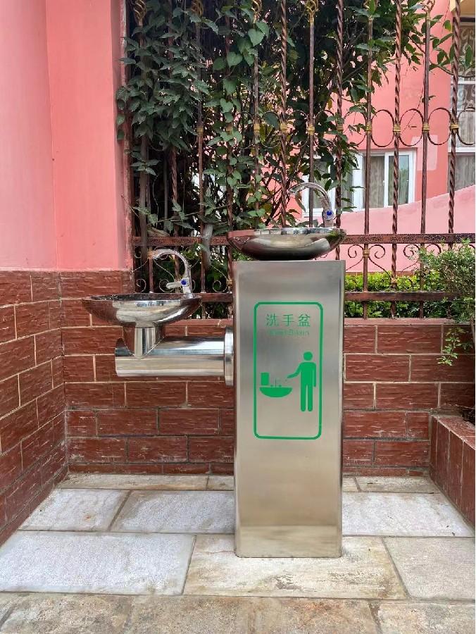 户外公共洗手台-智能感应出水